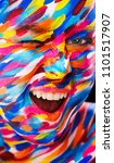 portrait of the bright... | Shutterstock . vector #1101517907