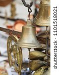Small photo of Used Brass Bells at For Sale Flea Market
