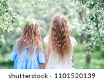 adorable little girls in...   Shutterstock . vector #1101520139