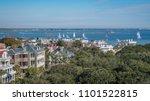 historic charleston view of... | Shutterstock . vector #1101522815