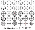 set of thirty vector cross... | Shutterstock .eps vector #110152289
