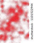 polka dot vertical halftone... | Shutterstock . vector #1101522944