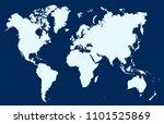 world map vector | Shutterstock .eps vector #1101525869