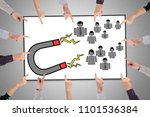 hands pointing to customer... | Shutterstock . vector #1101536384