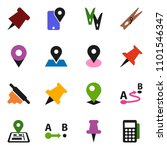 solid vector icon set  ... | Shutterstock .eps vector #1101546347