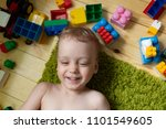 2 years baby boy laughing  | Shutterstock . vector #1101549605