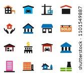 solid vector icon set | Shutterstock .eps vector #1101549887
