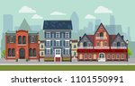 the landscape of the historic... | Shutterstock .eps vector #1101550991