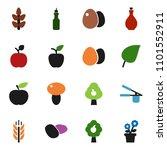 solid vector icon set | Shutterstock .eps vector #1101552911