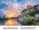 beynac et cazenac village with... | Shutterstock . vector #1101556157