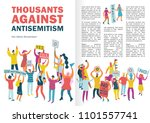 people protest infographics... | Shutterstock .eps vector #1101557741