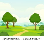 vector nature landscape... | Shutterstock .eps vector #1101559874