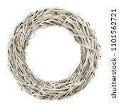 wreath from dried branches on...   Shutterstock . vector #1101562721