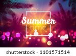 summertime landscape with palms ... | Shutterstock .eps vector #1101571514