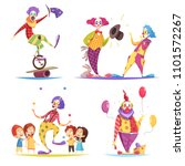clowns design concept with... | Shutterstock .eps vector #1101572267
