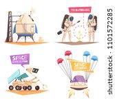 space technology design concept ... | Shutterstock .eps vector #1101572285