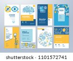 brochure cover design and flyer ... | Shutterstock .eps vector #1101572741