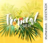 bright exotic summer design... | Shutterstock .eps vector #1101576224