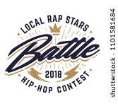 hip hop emblem template for rap ... | Shutterstock .eps vector #1101581684