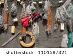 fishing gear background | Shutterstock . vector #1101587321