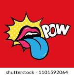 pop art vector speaking red... | Shutterstock .eps vector #1101592064