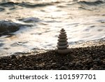 perfect pyramid of stones... | Shutterstock . vector #1101597701