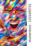 portrait of the bright... | Shutterstock . vector #1101600731