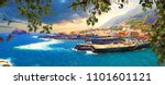 nature scenic seascape in... | Shutterstock . vector #1101601121