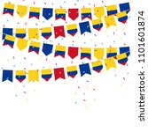colombia bunting flags with... | Shutterstock .eps vector #1101601874
