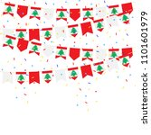 lebanon bunting flags with... | Shutterstock .eps vector #1101601979