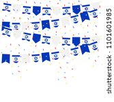 israel bunting flags with... | Shutterstock .eps vector #1101601985