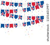 iceland bunting flags with... | Shutterstock .eps vector #1101601997