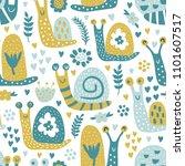 vector seamless pattern  funny... | Shutterstock .eps vector #1101607517