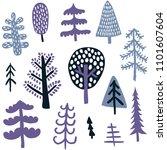 vector set of cute hand drawn...   Shutterstock .eps vector #1101607604