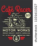 classic cafe racer motorcycle... | Shutterstock .eps vector #1101611027