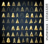 christmas trees icons set... | Shutterstock .eps vector #1101613205