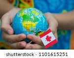 blue globe with territories of... | Shutterstock . vector #1101615251