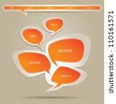 abstract vector web design...   Shutterstock .eps vector #110161571