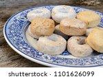 mantecado  polvoron and rosco... | Shutterstock . vector #1101626099