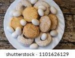 mantecados  polvorones ... | Shutterstock . vector #1101626129