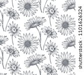 floral seamless pattern with... | Shutterstock .eps vector #1101626324