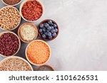 various superfoods goji berries ... | Shutterstock . vector #1101626531