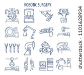 robotic surgery line icons set. ... | Shutterstock .eps vector #1101628934