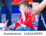 liverpool fan cries after... | Shutterstock . vector #1101629099
