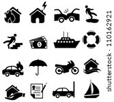 risk  icon set in black | Shutterstock .eps vector #110162921