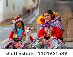 cusco  peru   february 10  2018 ... | Shutterstock . vector #1101631589