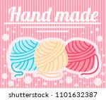 three wool balls. different... | Shutterstock .eps vector #1101632387