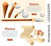 history web banner concept.... | Shutterstock .eps vector #1101632399