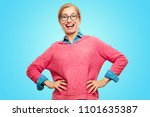 beautiful adult blonde woman... | Shutterstock . vector #1101635387