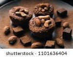 chocolate brownie cake  dessert ... | Shutterstock . vector #1101636404